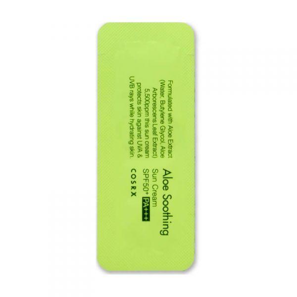 COSRX Aloés nyugtató napvédő SPF50 PA+++ minta