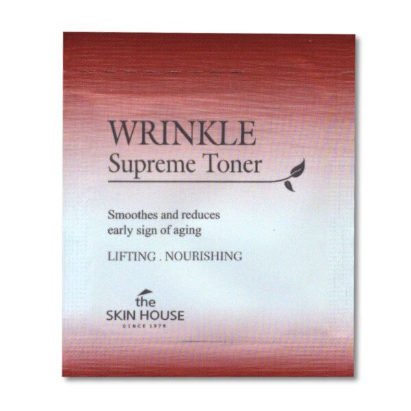 The Skin House Wrinkle Supreme bőrfeszesítő toner minta